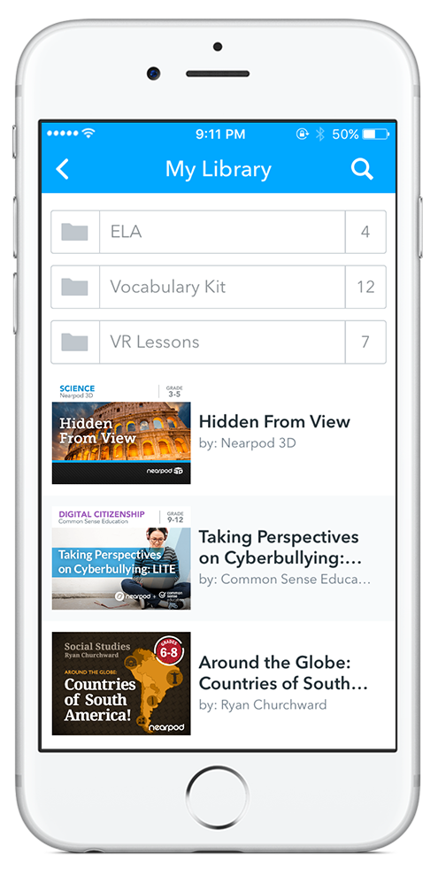 Access your Library right from your iPhone