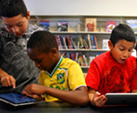 Kids interacting with peers and Nearpod