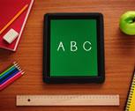 iPad with a A B C