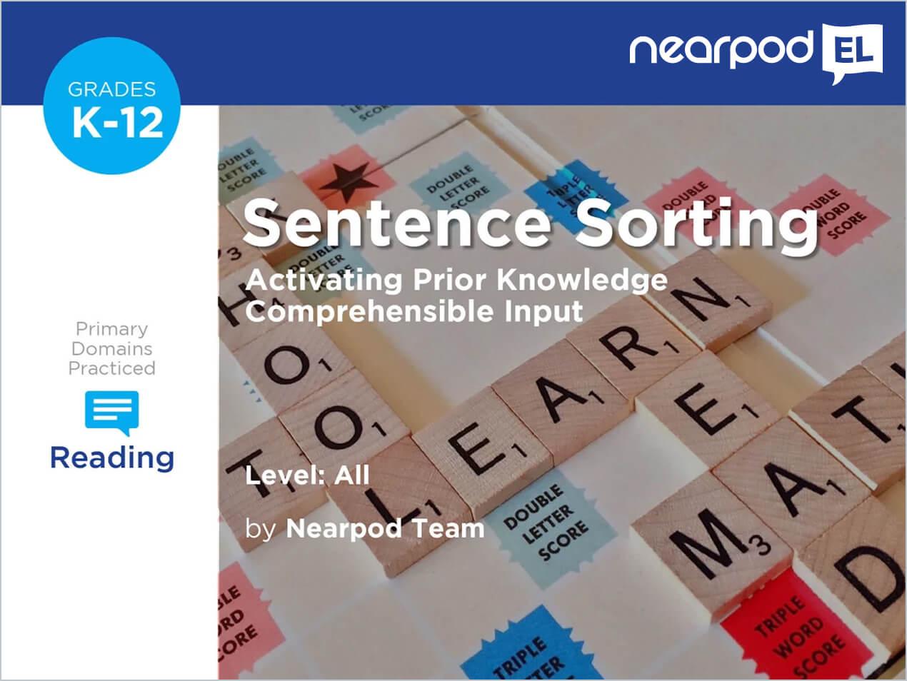 Sentence Sorting