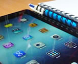 iPad with education technology apps
