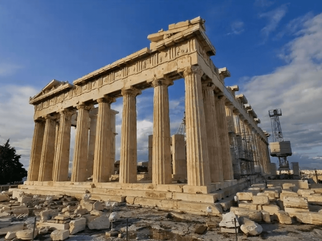 Ruins of a the greek Parthenon