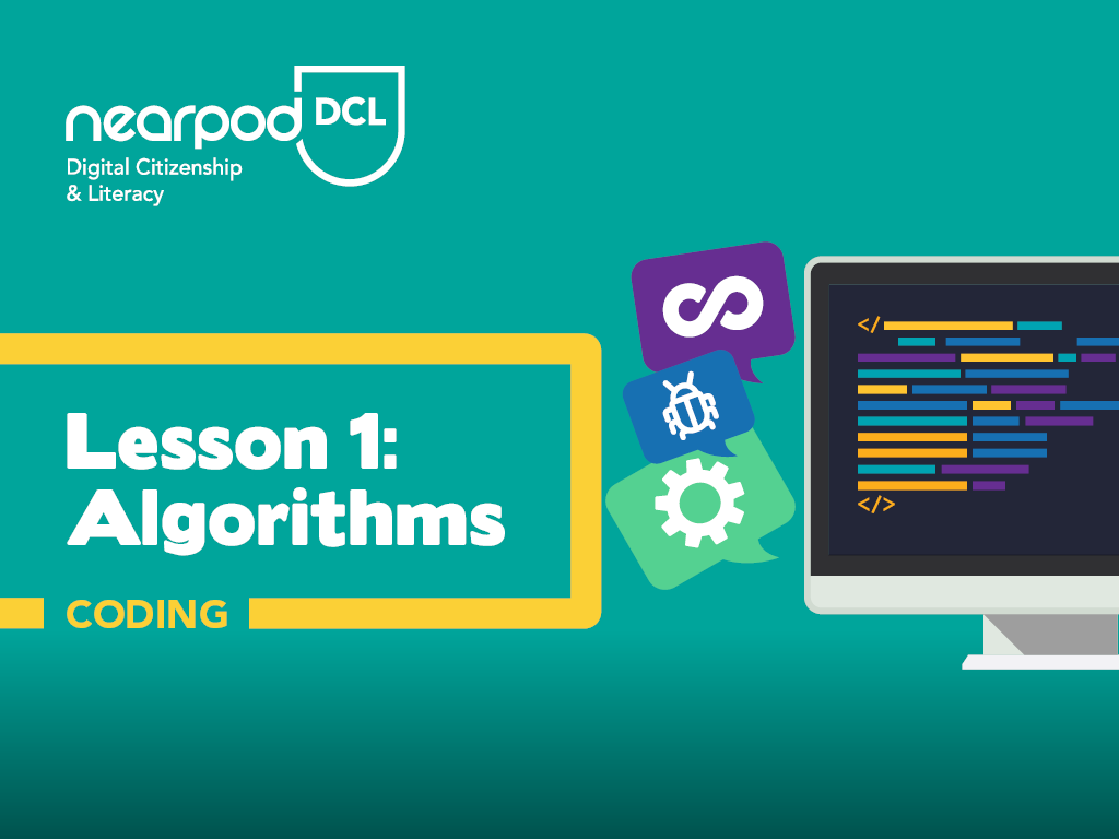Lesson cover for a lesson from Digital Citizenship & Literacy about Algorithms.