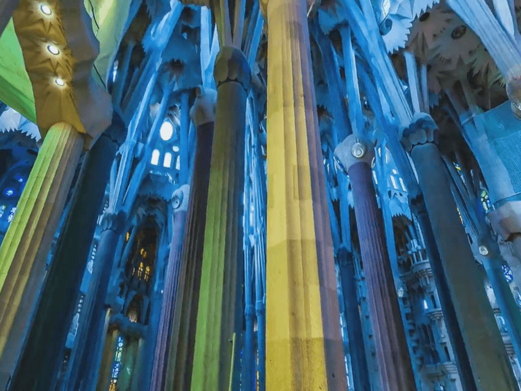 Interior or the church of the Sacred Family